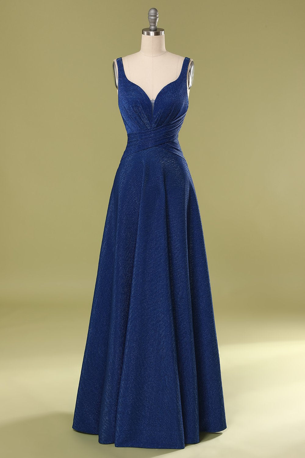 Glitter Royal Blue Long Prom Dress