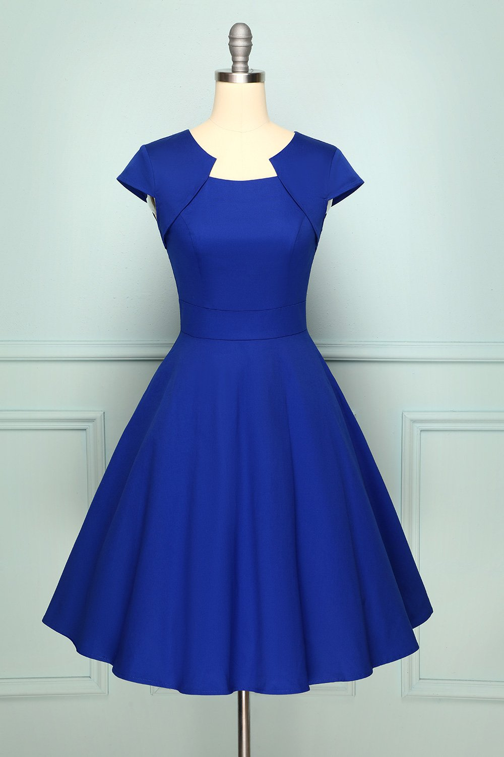 Royal Blue Asymmetrical Neck