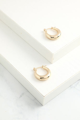 Simple Gold Circle Earrings