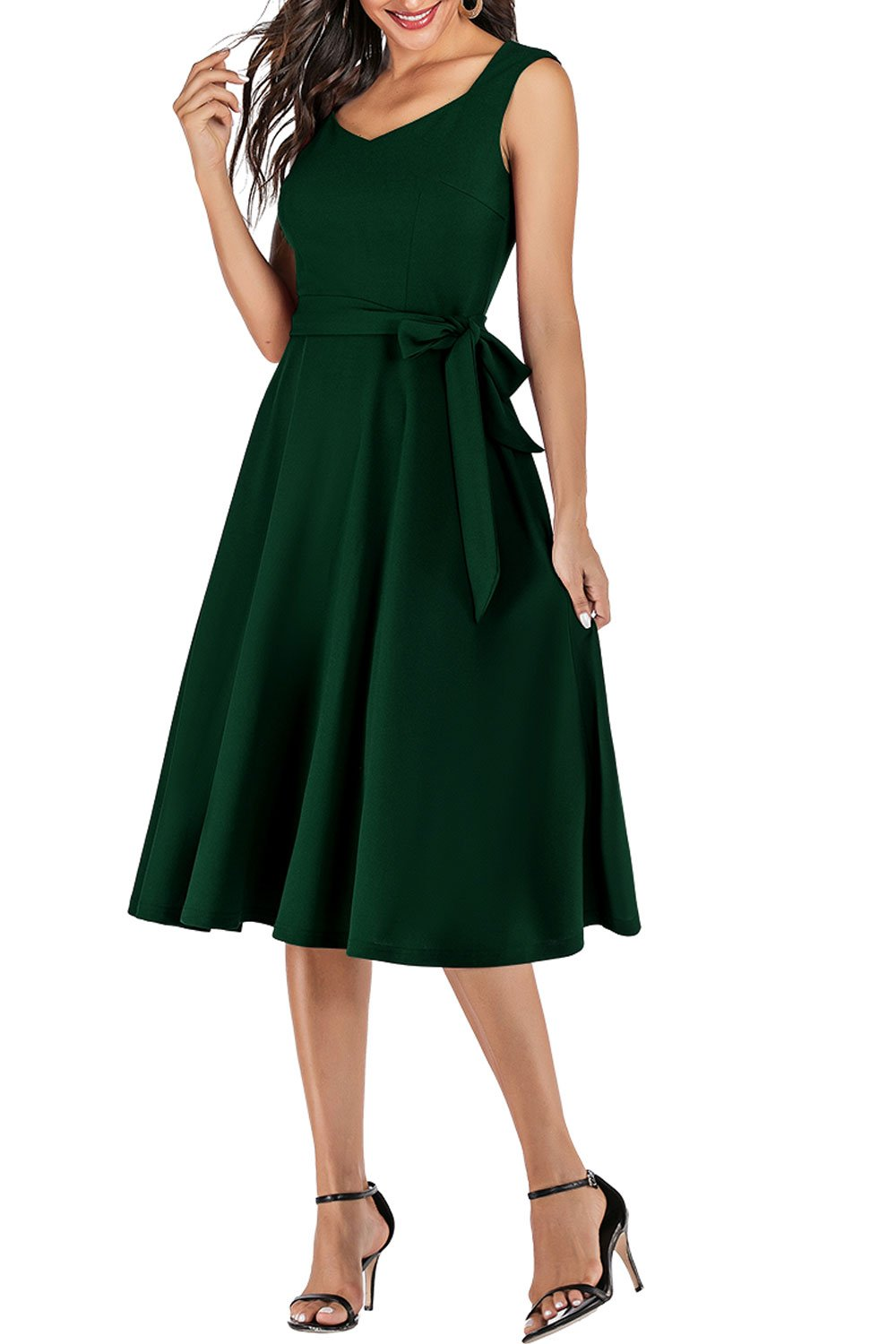 Soft Dark Green Dress