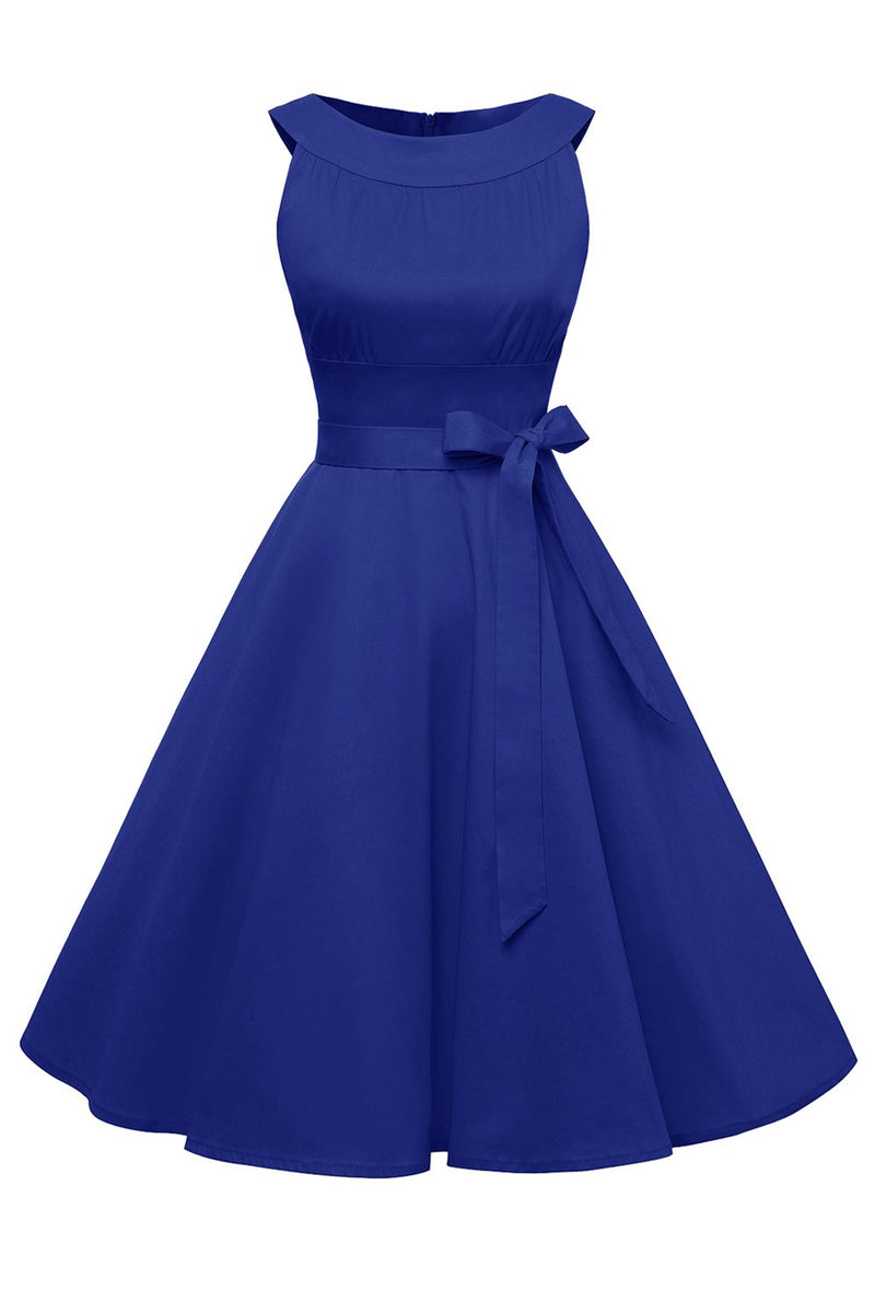 Load image into Gallery viewer, Royal Blue Retro Dress