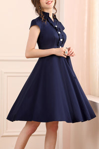 1950s Navy Blue Swing