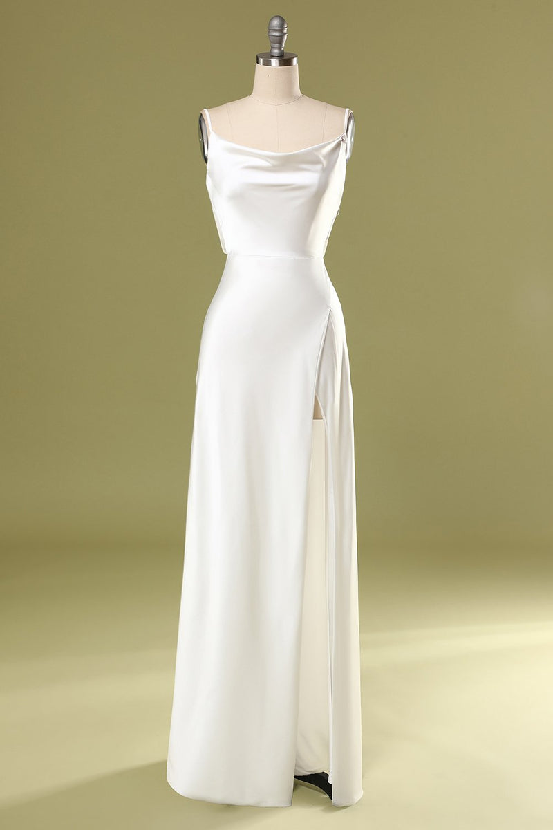 Load image into Gallery viewer, Mermaid White Long Prom Dress