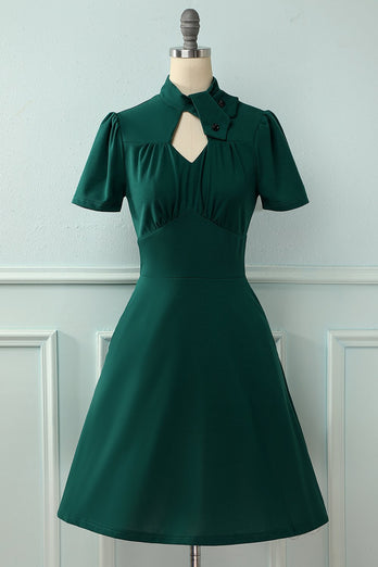 Dark Green 1950s Christmas Dress