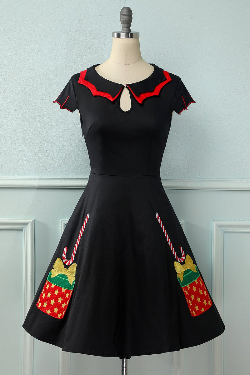 Load image into Gallery viewer, 1950s Christmas Swing Dress