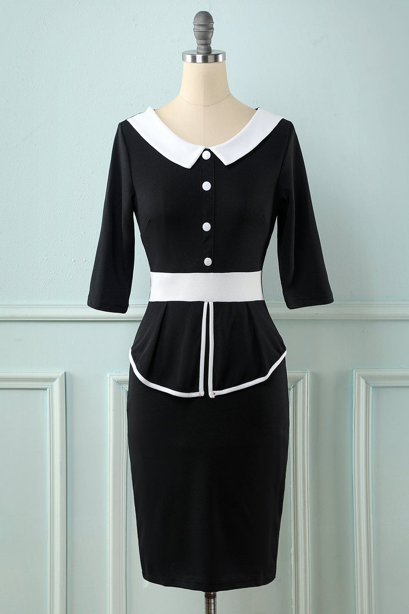 Load image into Gallery viewer, Black Long Sleeves Bodycon Dress