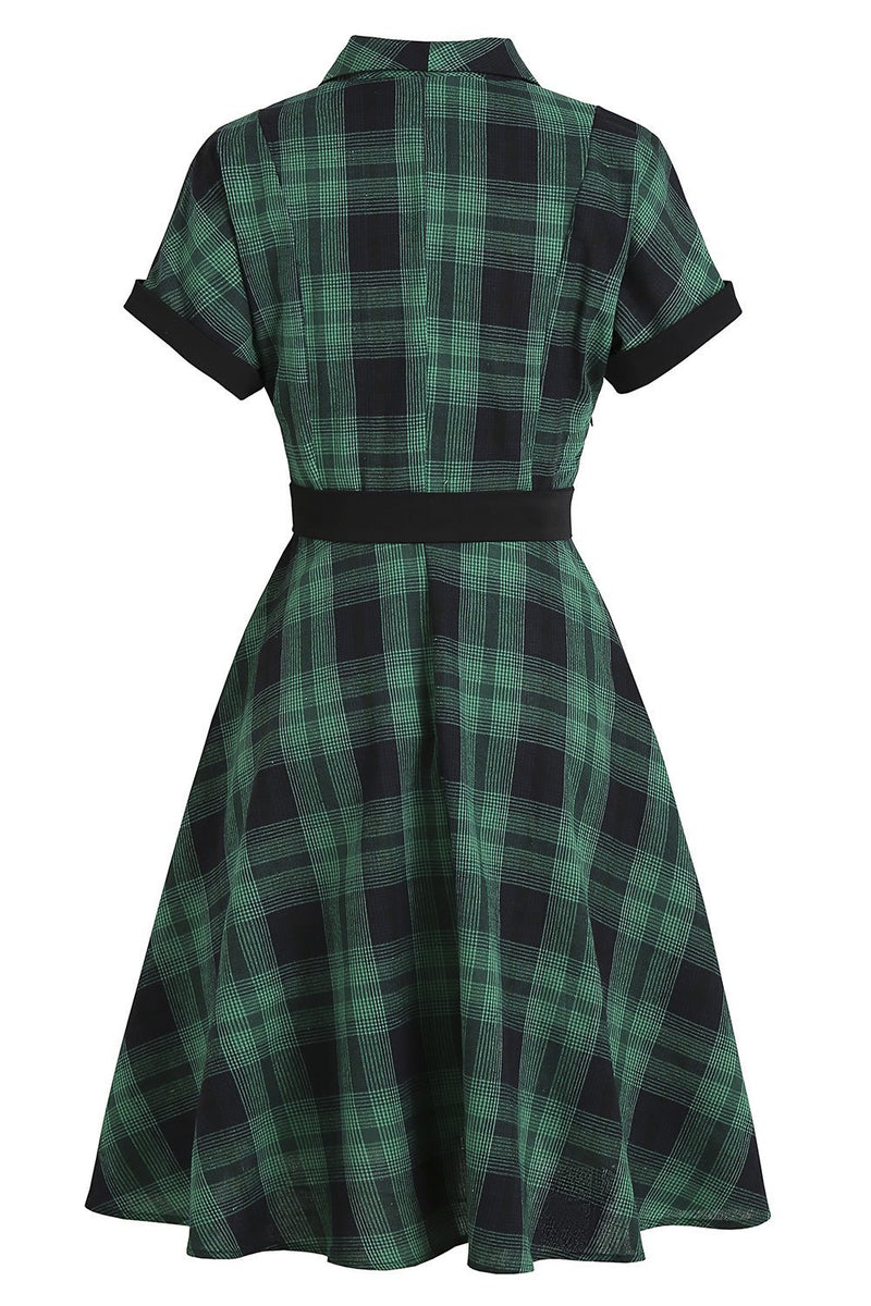 Load image into Gallery viewer, Yellow Plaid 1950s Vintage Dress