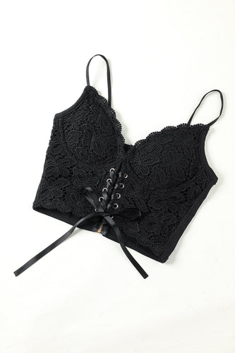 Lace Top Black Camisole