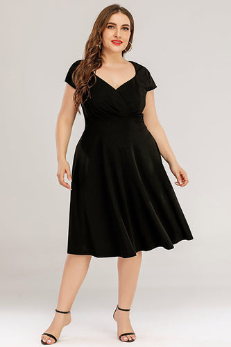 Plus Size Black Party Dress