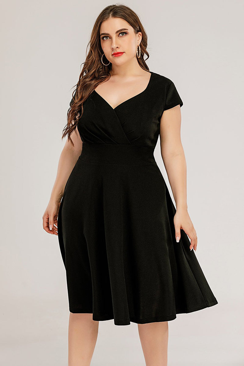 Load image into Gallery viewer, Plus Size Black Party Dress