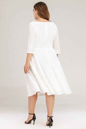 Plus Size White Formal Dress