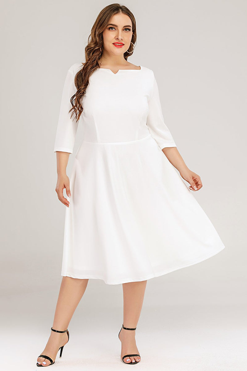 Load image into Gallery viewer, Plus Size White Formal Dress