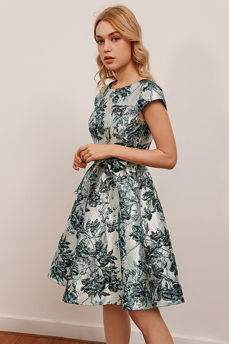 Load image into Gallery viewer, Flower Floral Satin Dress