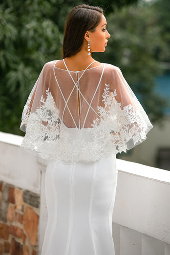 White Lace Tops for Wedding