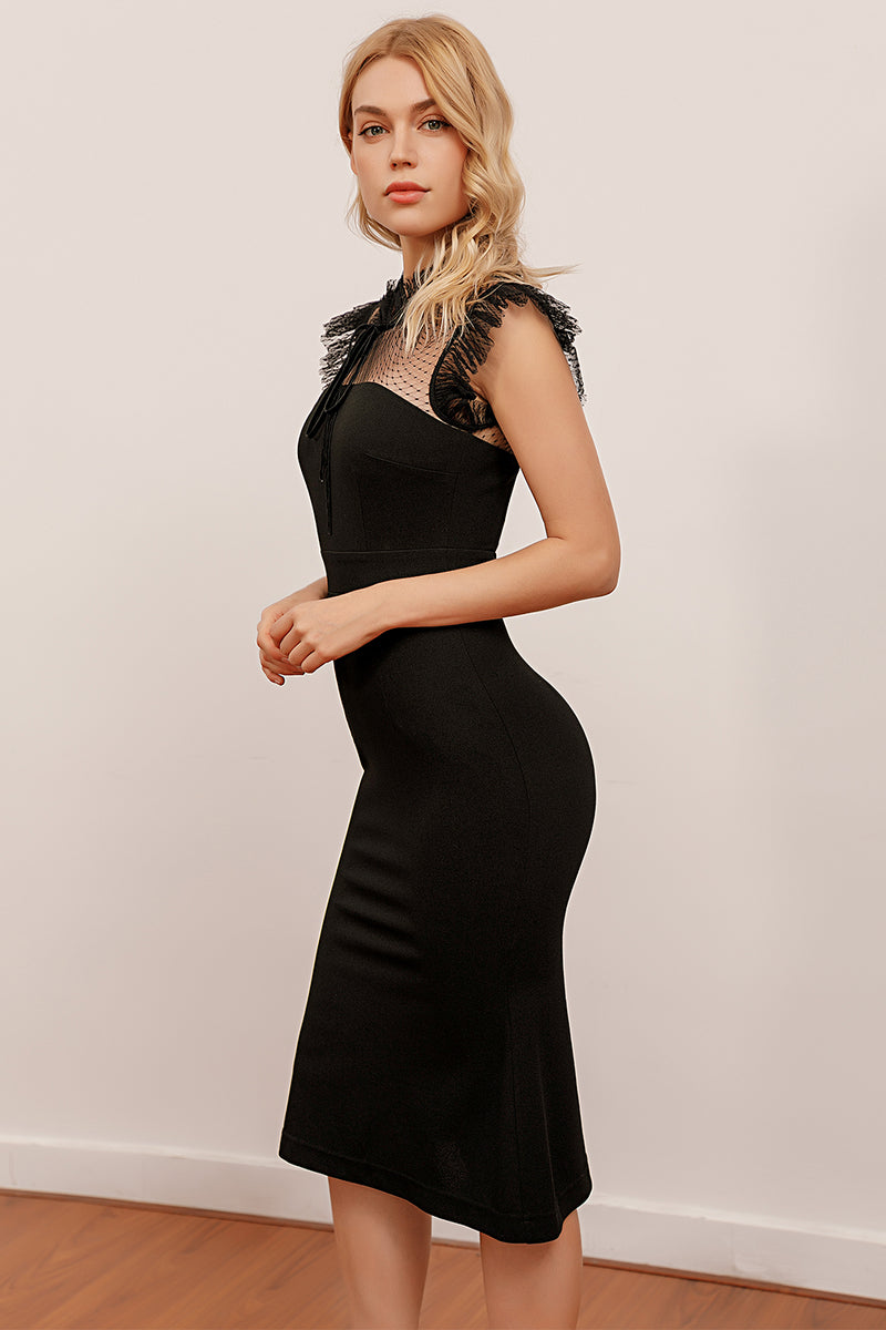 Load image into Gallery viewer, Mermaid High Neck Bodycon Dress