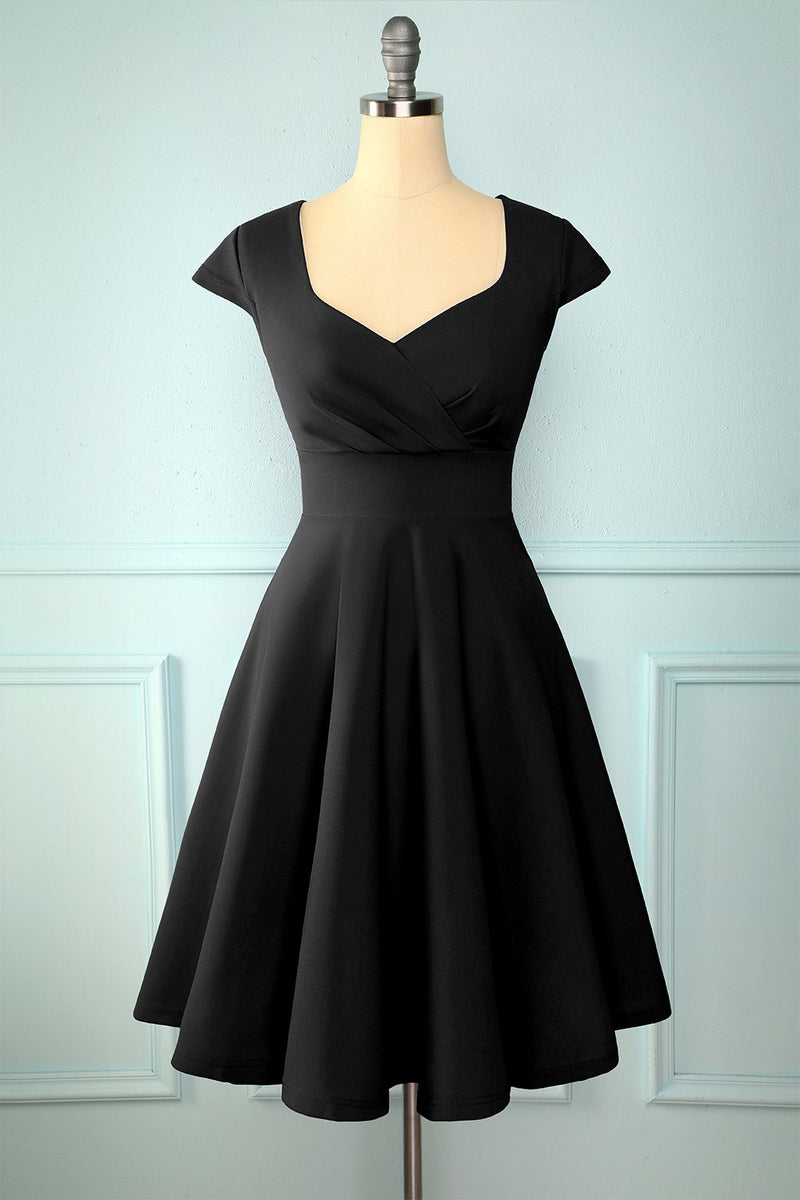 Load image into Gallery viewer, Black Solid Dress