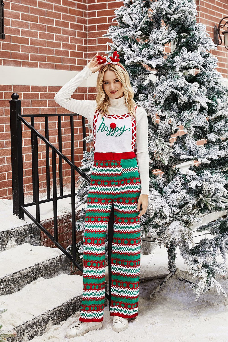 Load image into Gallery viewer, Green Long Christmas Pants