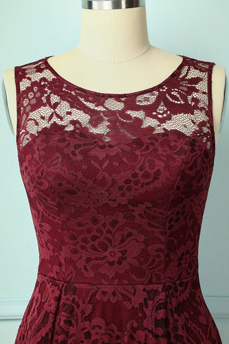 Asymmetrical Burgundy Lace