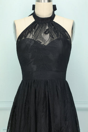 Black Halter Long Dress