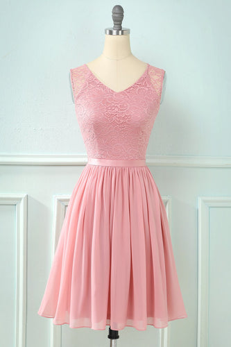 Lace Chiffon Bridesmaid Dress