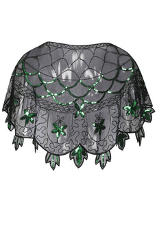 1920s Green Flower Sequin Women Cape