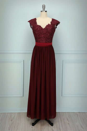 Dark Red Lace Dress