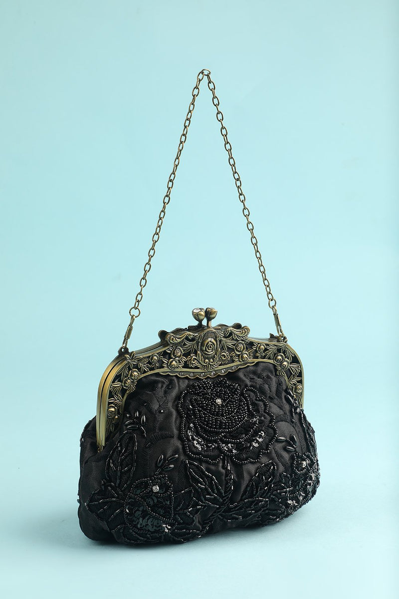 Load image into Gallery viewer, Black Party Handbag