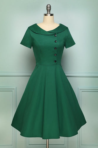 Green Button Dress