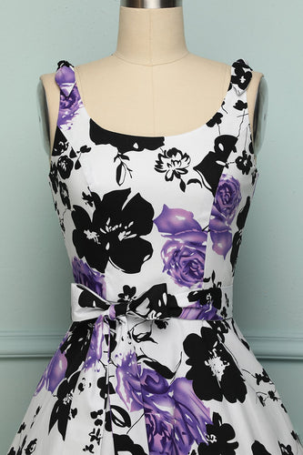 Purple Black Print