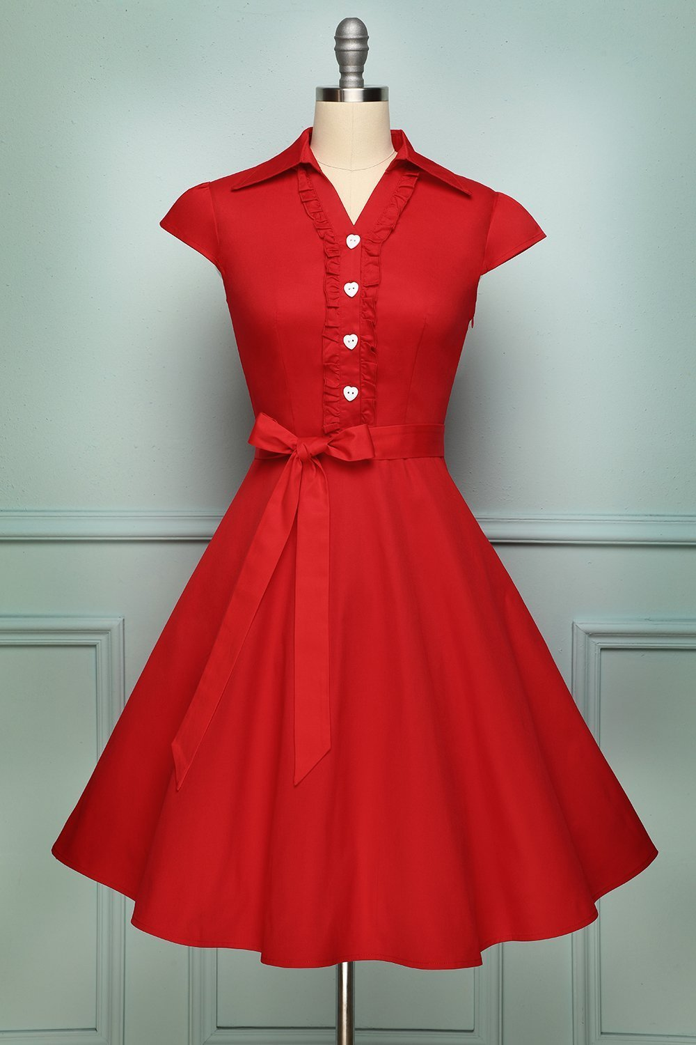 Red 1950s Vintage