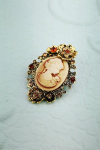 Rhinestone Beauty Brooch