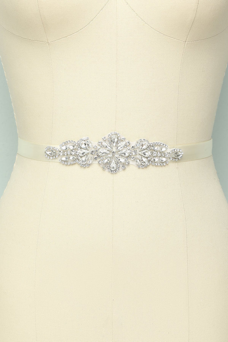 Load image into Gallery viewer, Rhinestone Bridal Sash - ZAPAKA