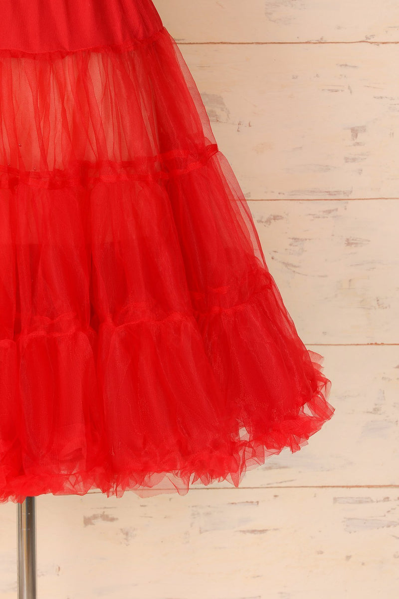 Load image into Gallery viewer, Tulle Red Petticoat - ZAPAKA