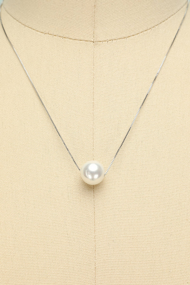Load image into Gallery viewer, White Pearl Necklace - ZAPAKA