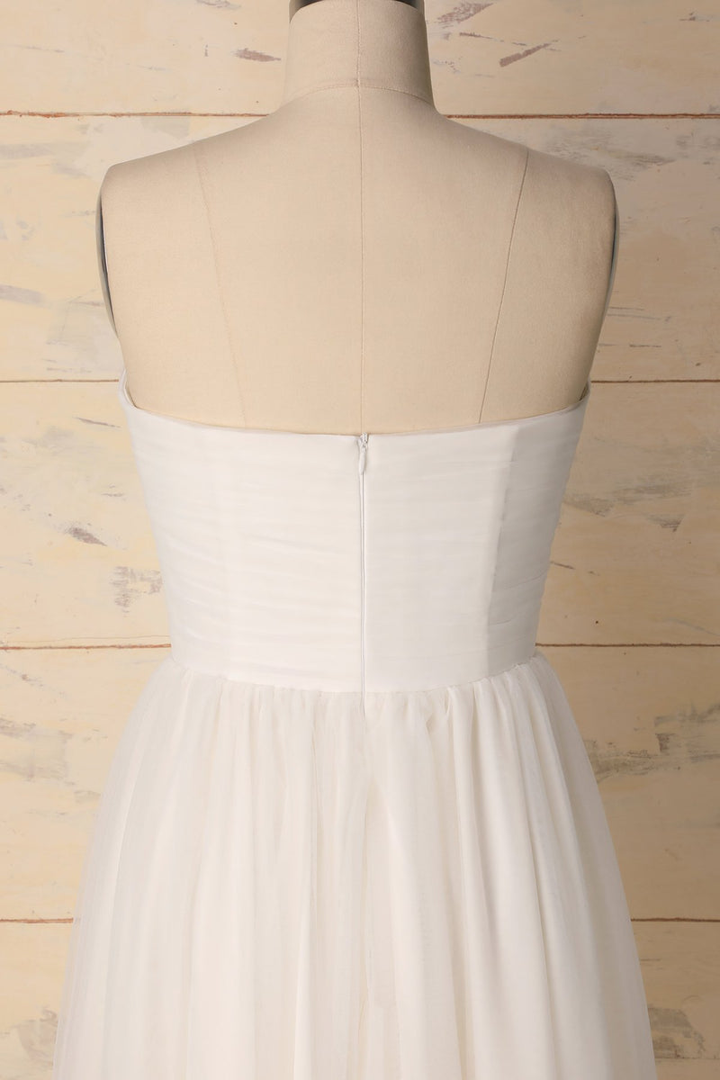 Load image into Gallery viewer, White Sweetheart Dress - ZAPAKA