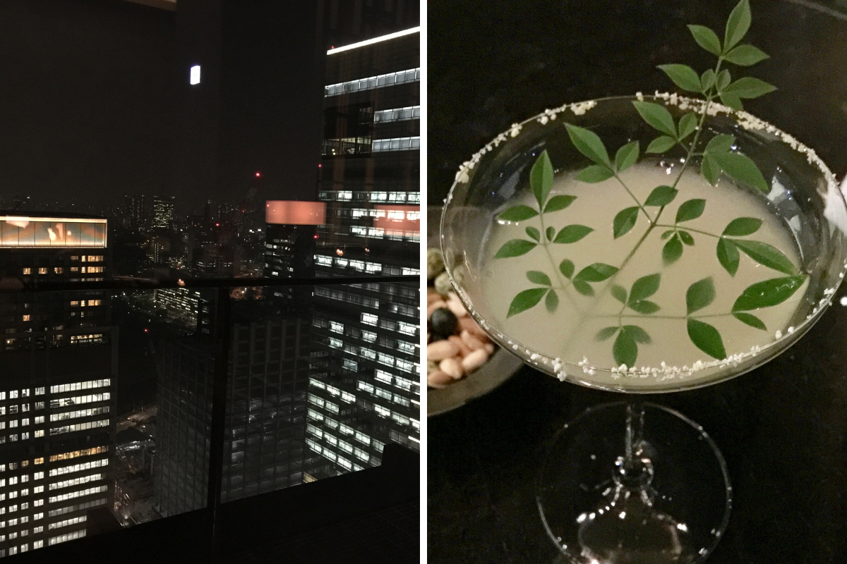 Cocktails at the Aman Tokyo