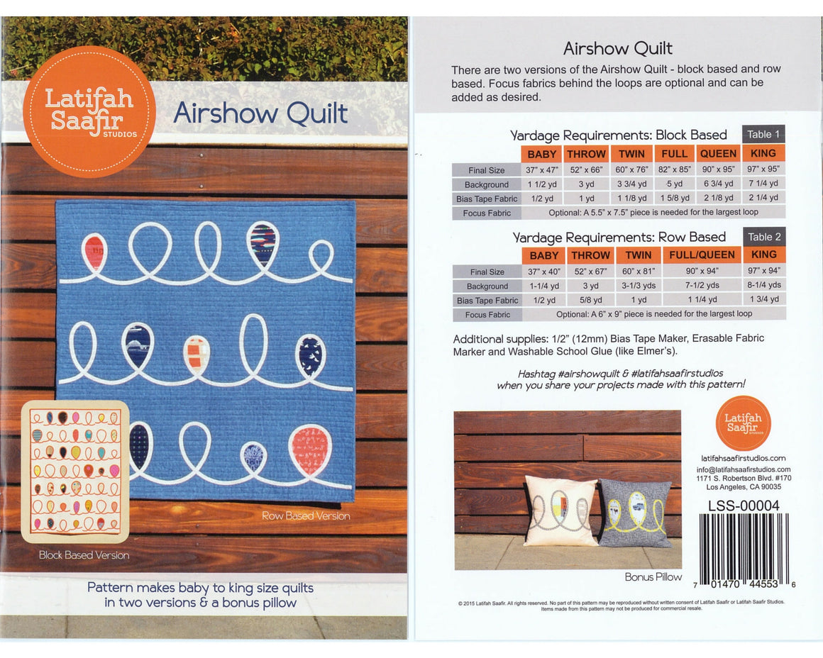 Airshow Quilt Pattern from Latifah Saafir