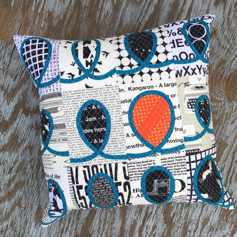 Airshow Quilt Pattern Pillow from Latifah Saafir