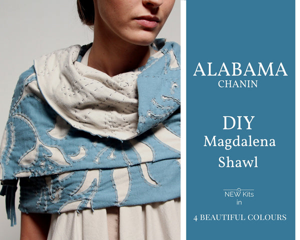 Alabama Chanin Hand Embroidered Shawl