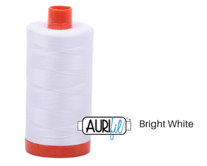 Bright White Aurifil Thread 50wt