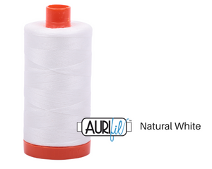 Natural White Aurifil Thread 50wt