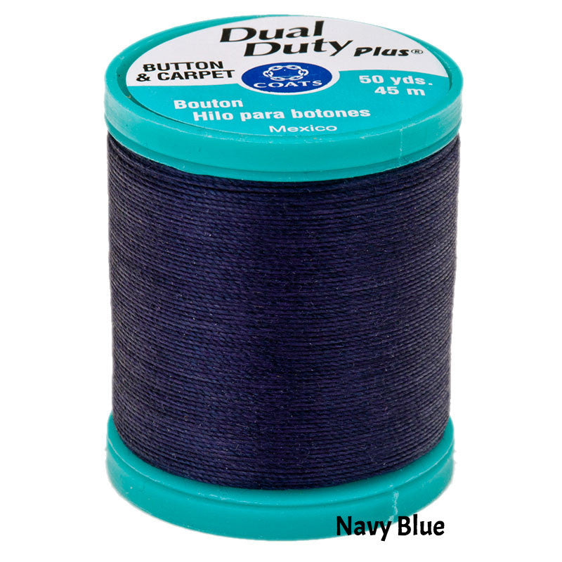 Coats Button Craft Dual Duty Thread in Navy