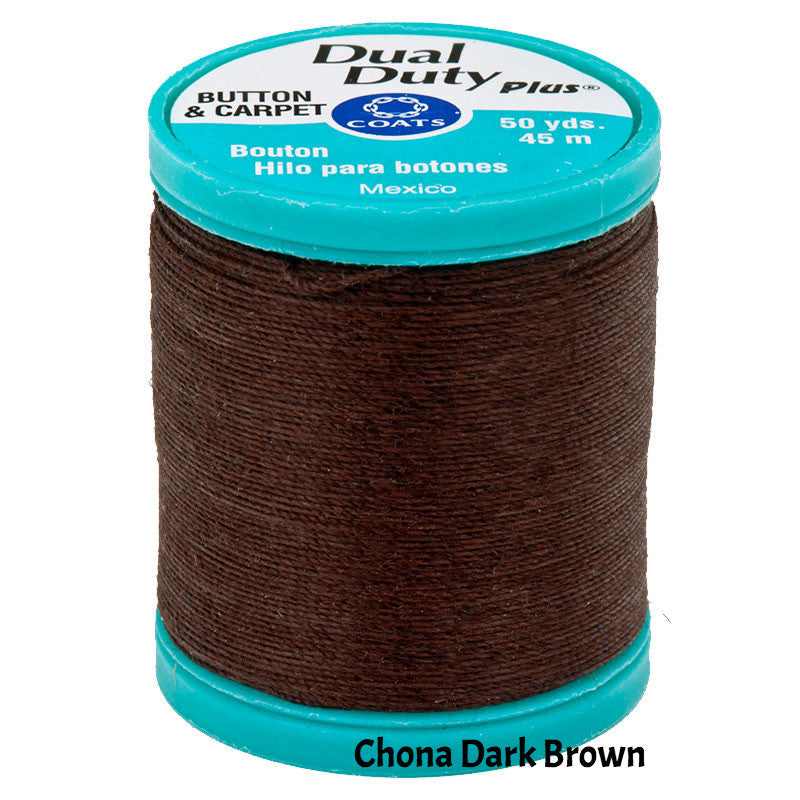Coats Button Craft Dual Duty Sewing Thread in Chona Brown