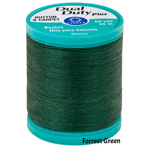 Coats Button Craft Dual Duty Thread in Forrest Green