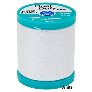 Coats Button Craft Dual Duty Sewing Thread in White