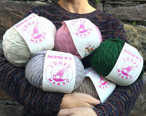 Winter merino wool colours