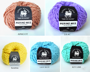 collection of loopy mango merino no 5 gelato colours