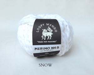 Bright White Loopy Mango Merino