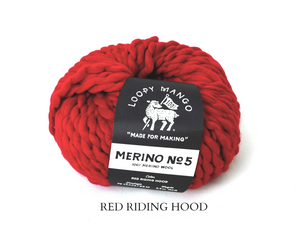Red Merino No5 Loopy Mango