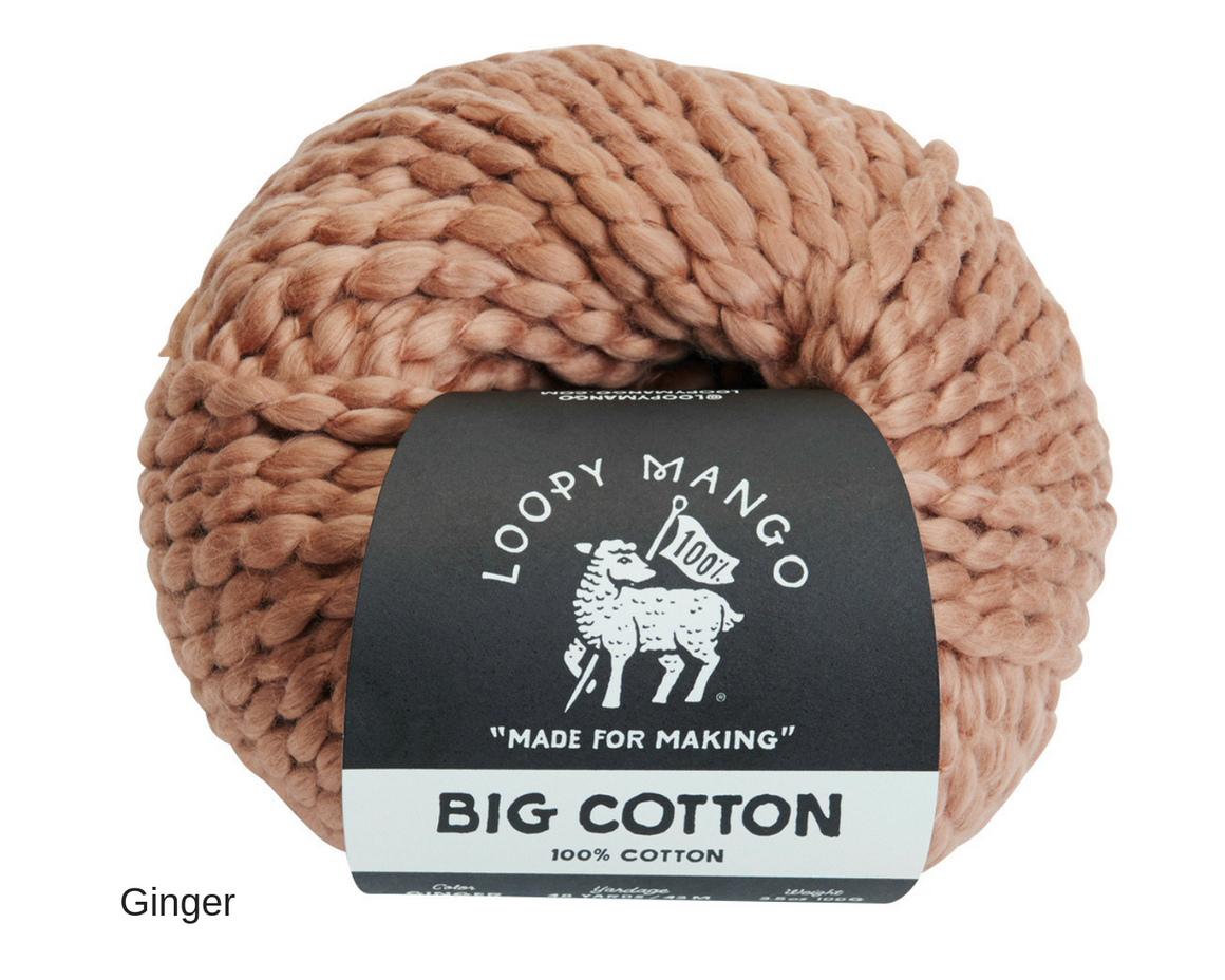 Loopy Mango Cotton Chunky Yarn in Ginger